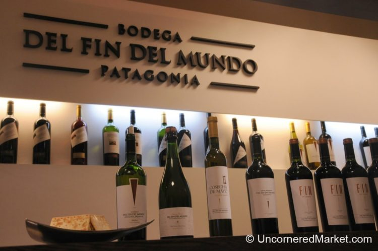 Large Variety of Wines at Fin del Mundo Winery