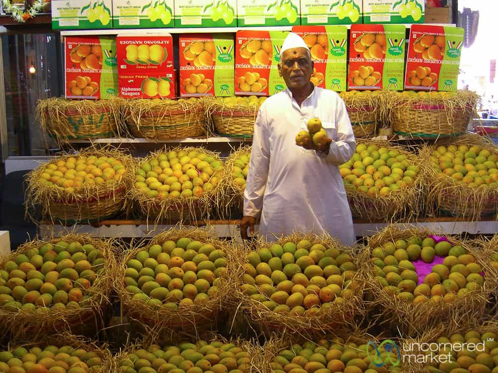 Crawford Market in Mumbai during mango season.