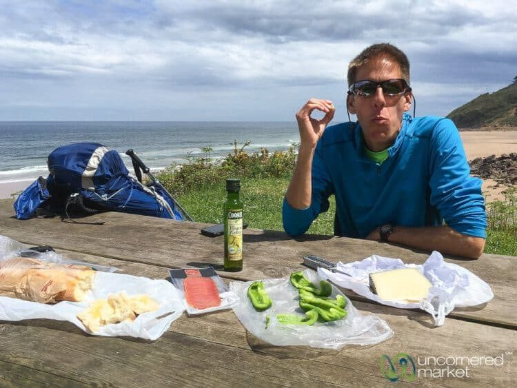 Picnic time along the Camino de Santiago