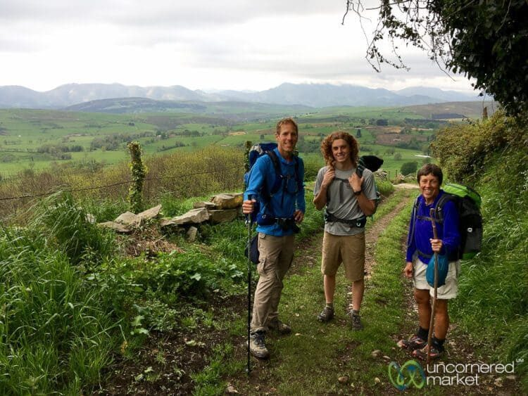 Walking the Camino Primitivo.
