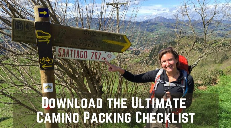 Downloadable Camino Packing Checklist for Women and Men