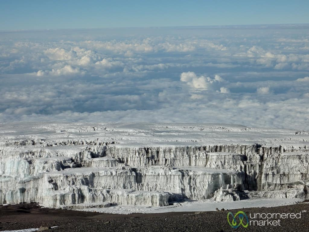 Climbing Kilimanjaro, Glaciers at Dawn