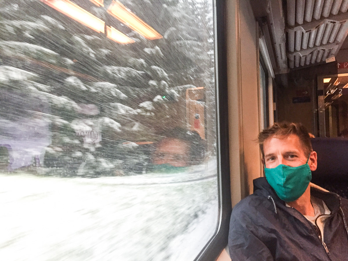 Travel Research and Planning During COVID-19, Masks on Trains